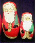 Click to view larger image of Santa Nesting Dolls - Six Wooden Santas (Image5)