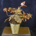 Click to view larger image of Metal Flower Filled Basket w/Butterfly (Image3)