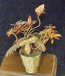 Click to view larger image of Metal Flower Filled Basket w/Butterfly (Image4)