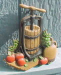 Click to view larger image of HOMCO Corn Husker/Churn - Metal Wall Decor (Image2)