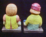 Click to view larger image of Raggedy Ann/Andy Chalk-Ware Bookends (Image5)