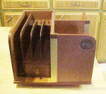 Click to view larger image of Wooden Book Stand - Organizer - Revolving (Image2)