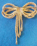 Click to view larger image of Rope Design Bow Pin - Gold-Toned (Image2)