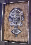 Click to view larger image of African Style Mask - Framed (Image3)