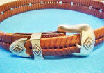 Click to view larger image of Concho Leather Western Belt  (Image2)
