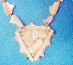 Click to view larger image of Mother of Pearl Necklace w/Pendant (Image4)