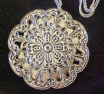 Click to view larger image of Silver Tone/Turquoise Style Pendant (Image2)