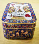 Click to view larger image of King of Hearts Enameled Brass Trinket Box (Image3)