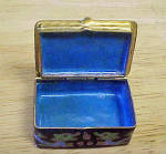 Click to view larger image of Queen of Diamonds Enameled Brass Mini-Box (Image3)