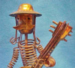 Guitarist Figure Music Box