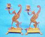 Metal Winged Mythical Animal Candle Holders