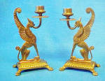 Click to view larger image of Metal Winged Mythical Animal Candle Holders (Image2)