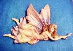 Click here to enlarge image and see more about item AAA981: Fairy Figurine Wall Art