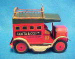 Click here to enlarge image and see more about item AAA994: Santa & Co. Tin Truck
