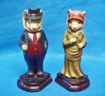 Click here to enlarge image and see more about item AAA998: Pair Rabbits Bookends - Vintage