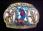 Click here to enlarge image and see more about item BB153: Hunting Metal Belt Buckle