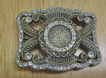 Click here to enlarge image and see more about item BB155: Bejeweled Elegant Metal Belt Buckle