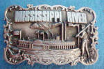 Click to view larger image of Mississippi River Metal Belt Buckle  (Image1)
