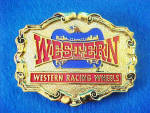 Click to view larger image of Western Racing Wheels Metal  Belt Buckle (Image1)