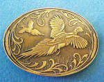 Pheasants Brass Belt Buckle