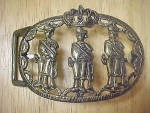 India - Palace Guards Metal Belt Buckle