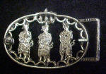 Click to view larger image of India - Palace Guards Metal Belt Buckle (Image3)