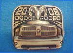 Click here to enlarge image and see more about item BB168: Dodge Rodeo 2009 - Metal Belt Buckle