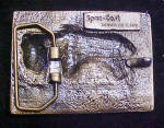 Click to view larger image of Buffalo Enameled Metal Belt Buckle  (Image2)