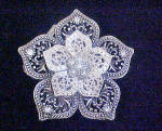 Click to view larger image of Floral Metal Belt Buckle - Be-Jeweled (Image1)