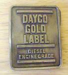 Click here to enlarge image and see more about item BB173: Dayco Gold Label Diesel Belt Buckle