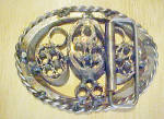 Click to view larger image of Geometric Forms Metal Belt Buckle (Image2)