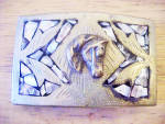 Click to view larger image of Horse's Head Belt Buckle w/Mother of Pearl (Image3)