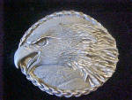 Click here to enlarge image and see more about item BB200: EGE Eagle's Head Belt Buckle - 20th Century