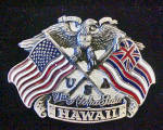 Click to view larger image of Hawaii Metal Belt Buckle - The Aloha State (Image1)
