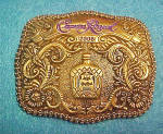 Click here to enlarge image and see more about item BB207: Crown Royal 2008 Advertising Belt Buckle