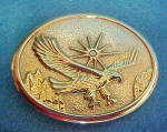 Click here to enlarge image and see more about item BB236: Flying Eagle Metal Belt Buckle