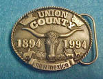 Click to view larger image of New Mexico - Union County Belt Buckle (Image1)