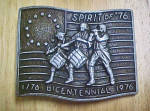 Click to view larger image of Spirit of '76 U.S. Bicentennial Belt Buckle (Image1)