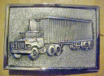 Click to view larger image of 1970's Semi-Truck  - 18 Wheeler Belt Buckle (Image1)