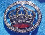 Click to view larger image of Crown Rhinestone Belt Buckle (Image1)