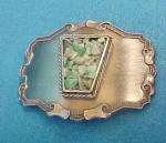 Click to view larger image of Metal Belt Buckle w/Colorful Stone Chips (Image1)