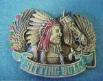 Click to view larger image of Sitting Bull Metal Belt Buckle (Image1)