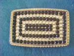 Click to view larger image of Black & Clear Crystal Belt Buckle (Image1)