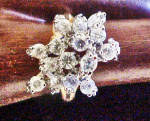 Click to view larger image of Gold Cascading Waterfall CZ Ring (Image2)
