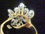 Click to view larger image of Gold Cascading Waterfall CZ Ring (Image4)