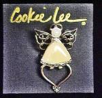 Click to view larger image of Cookie Lee Angel Pin/Pendant (Image3)