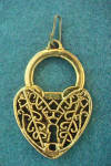 Filigreed Heart/Lock Pendant/Charm