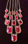 Click to view larger image of Red Faceted Stones Necklace/Earrings Set (Image6)