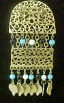 Click to view larger image of Dangle Brooch w/Beads & Charms (Image2)