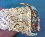 Click to view larger image of Longhorn Star Cuff Bracelet  (Image2)